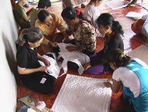 Quilters in Rumdoul, Cambodia