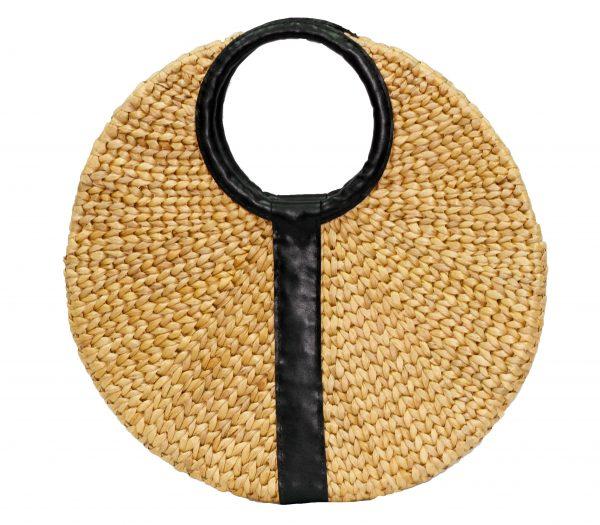 Bruno leather flat circle bag-0
