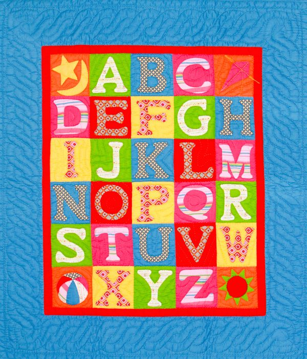 ABCD baby quilt -0
