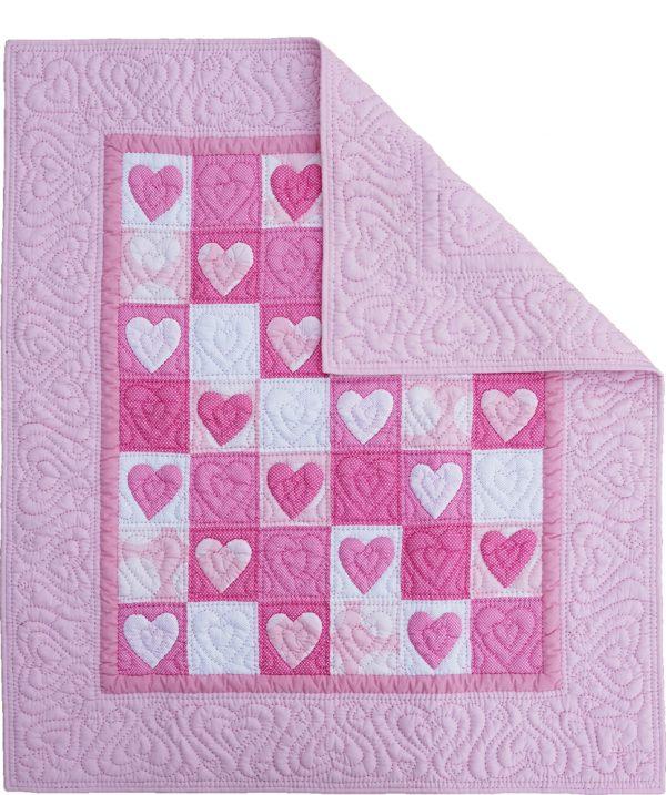 Heart Baby Quilt-863