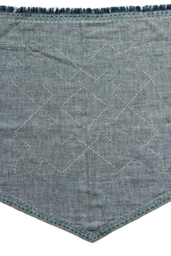 Hmong Star Topstitch Triangle Scarf-905