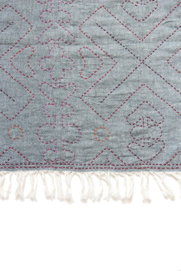 Hmong Quilting Rectangle Scarf-918