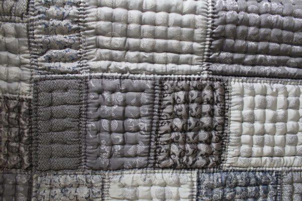 Silk Patchwork Quilt (Queen Size)-973