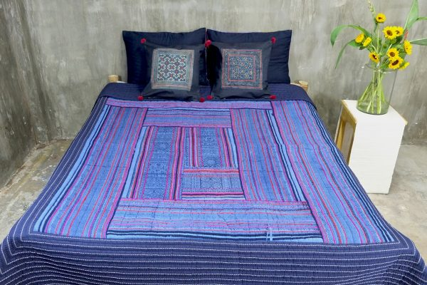 Sapa Log Cabin Quilt (Queen size)-0