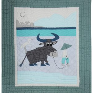 Water Buffalo baby quilt-0