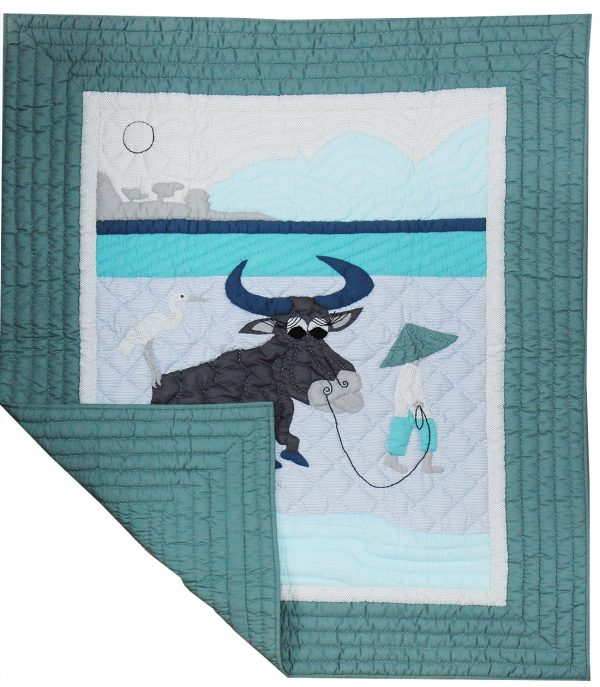 Water Buffalo baby quilt-1176