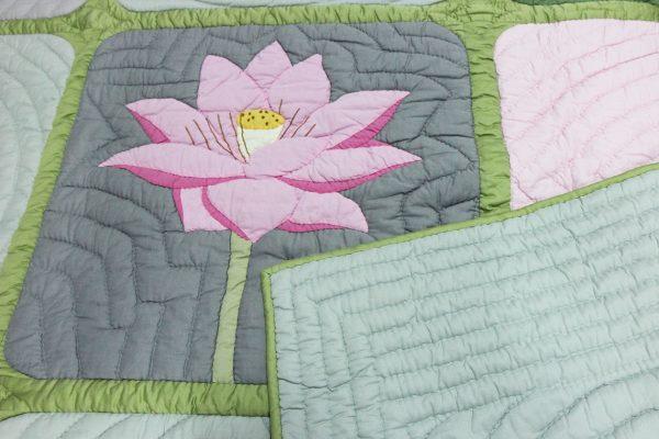 Viet Nam Lotus Quilt (Queen size)-1141