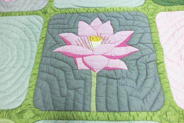Viet Nam Lotus Quilt (Queen size)-1137
