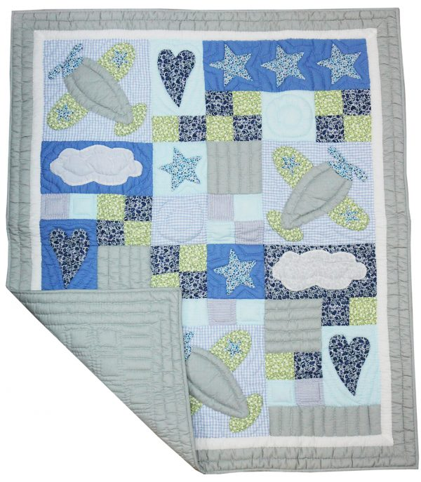 Stars & Planes baby quilt-1154