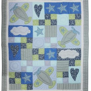 Stars & Planes baby quilt-0