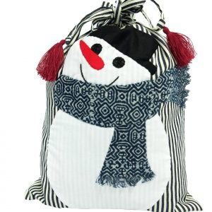 Snow man - drawstring bag-0