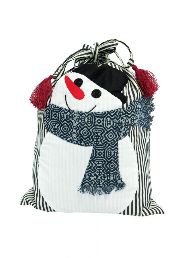 Snow man - drawstring bag-0